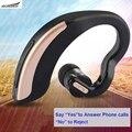 V18 bluetooth headset 4.0 auriculares auriculares de control de voz hd mic sonido estéreo del oído-gancho del auricular inalámbrico para iphone 7 samsung