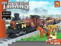 AUSINI #25813 Building Blocks Train city Toy Series Steam Locomotive 531PCS 008