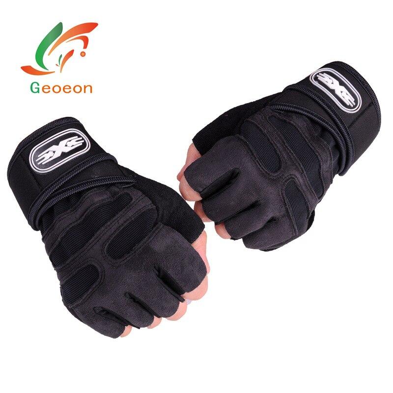 Geoeon M-XL חדר כושר רכיבה על אופניים במשקל כבד ספורט תרגיל משקל הרמת כפפות מבנה גוף אימון ספורט כושר כפפות E20