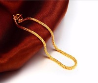 Fashion Pure 999 24K Yellow Gold Bracelet / Wheat Shape Link Chain Bracelet/ 3.59g