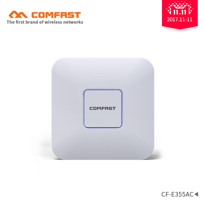 COMFAST CF-E355AC 1200Mbps Ceiling AP 5.8G+2.4G Wifi Signal Amplifier router Dual band 802.11ac access point AP for office/hotel 2pcs comfast 1200mbps wireless ceiling ap indoor ap 5 8ghz duacl band 802 11ac openwrt wifi signal amplifier router for office