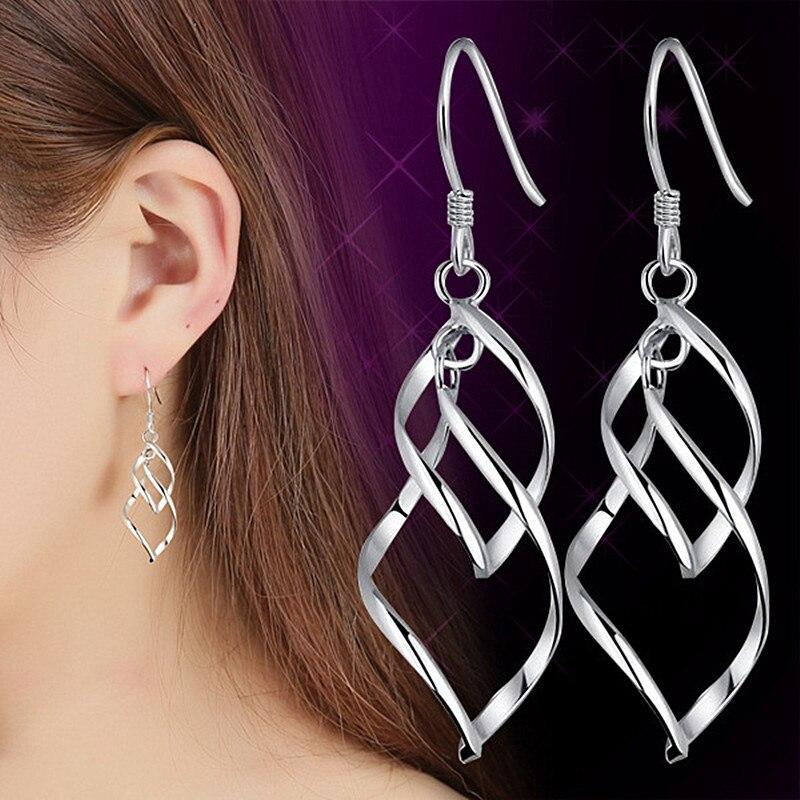 long drop brincos bijoux boucle d 39 oreille twist earring. Black Bedroom Furniture Sets. Home Design Ideas