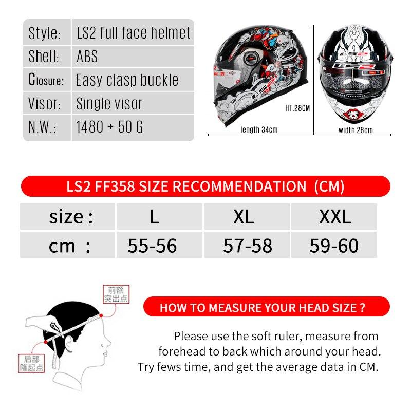 LS2 FF358 casque moto intégral Alex Barros motocross racing homme femme ls2 Original ECE approuvé multi-couleur pare-soleil - 6