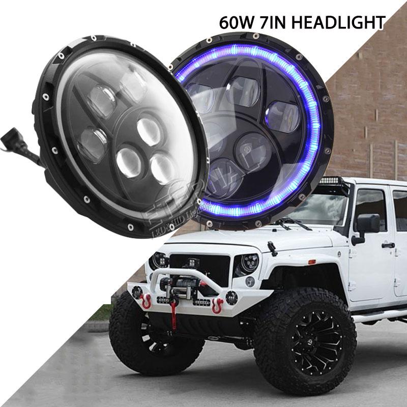 4pairs 60 Вт 7 дюймов LED фары с ходовыми огнями венчик для авто 4х4 для бездорожья спорщик мотоциклами Н4 фары стайлинга лампы