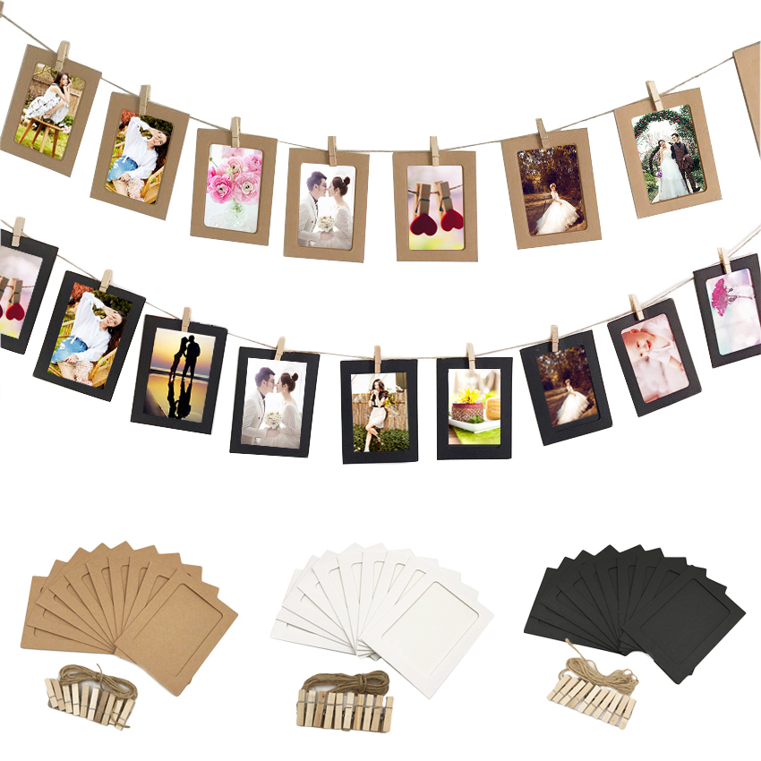 10Pcs DIY Paper Photo Frame Halloween Decoration Wedding ...