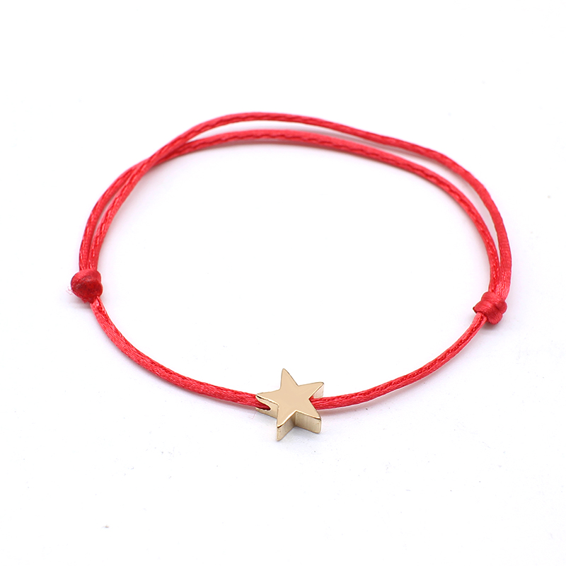 NEW Simple Charm Bracelet black color Minimalist Adjustable Rope String Lucky Bracelet heart star For Women lovers bead jewelry 4