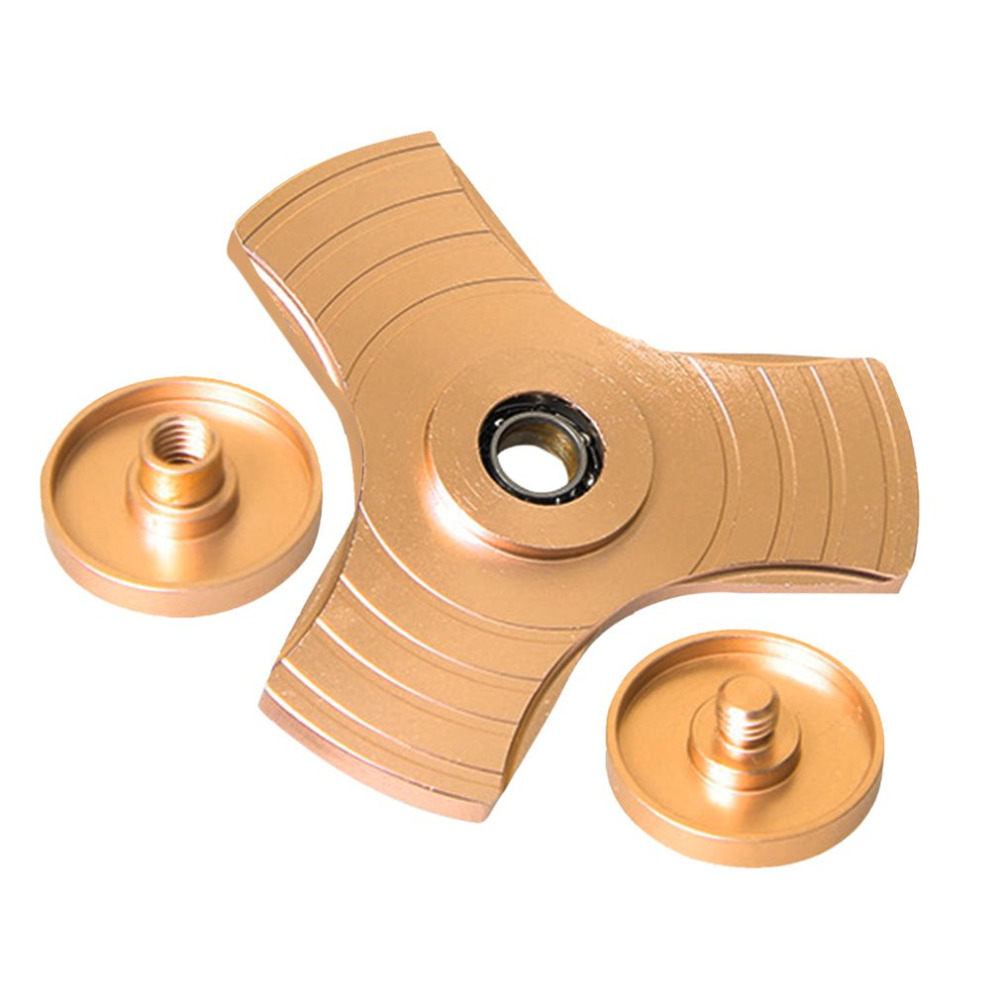 OCDAY EDC Finger Spinner EDC Gold Silver Aluminum Alloy Metal Finger Toy For Autism ADHD Anxiety Stress Hand Spinner Clearance