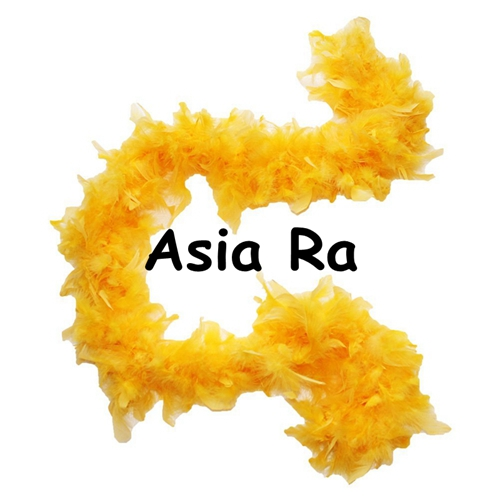 About 80g 10Meter Gold yellow Fluffy Feather Boa High Quality Turkey Feather Boa Plumes For Party