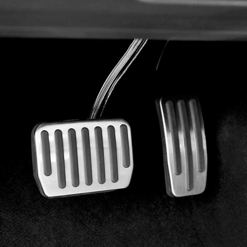 Aluminiumlegering Voetpedaal Voor Tesla Model 3 Gaspedaal Gas Fuel Rempedaal Rust Pedaal Pads Matten Cover Accessoires Auto styling