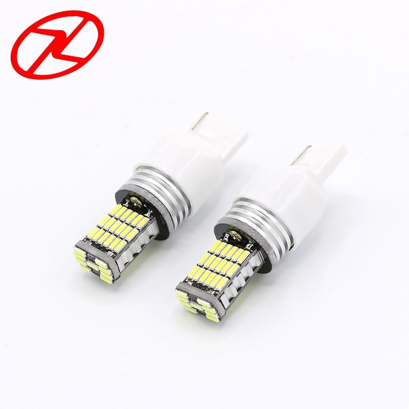 2шт T20 в w21/5 Вт 7443 45 Сид SMD 4014 LED автомобиля поворота сигнала 21/5Вт тормозные лампочки белого авто парковка Лампа 12В