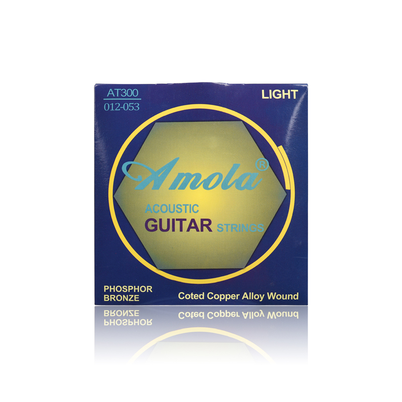 Acoustic Guitar Strings Amola Professional Strings Pure Copper AT300 012-053 Musical Instrument Guitar Strings Wound Steels Set