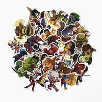 50 Uds. Marvel los Vengadores pegatina de ordenador portátil de dibujos animados impermeable para monopatín equipaje guitarra furniur pegatina de juguete pegatinas Dropship