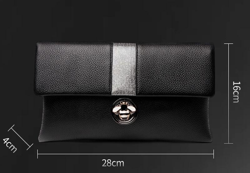 Gorgeous Colorful Diamond Tassel Genuine Leather Women Wallet Clutch Purse Evening bag Shoulder Handbag Crossbody Bag Wristlet - 2