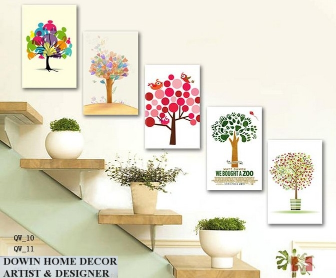Diy Canvas Art For Living Room Best Interior Design Wholesale Abstract Multi Picture Flower Painting Wall Hotel Showroom Decorative Oil Painted Number