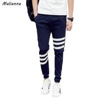 Malianna 2017 Winter Casual Men S Long Pencil Pants Military Harem Trendy Man Korean Slim Stripe