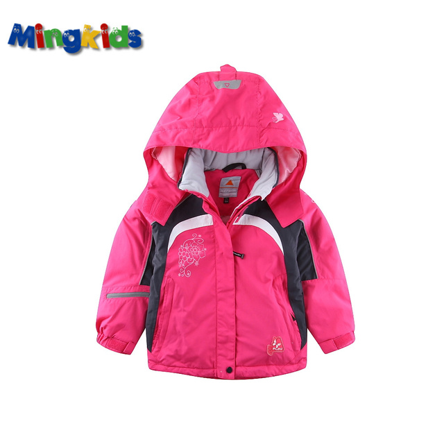 1e2c1471d Mingkids Outdoor thermal Waterproof Windproof coat for girls spring ...