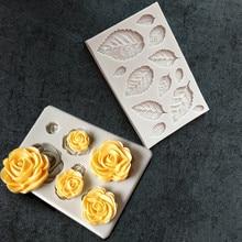 День Святого Валентина силиконовая форма «Роза» DIY помадка торт плесень шоколадная форма для помадки посуда для выпечки