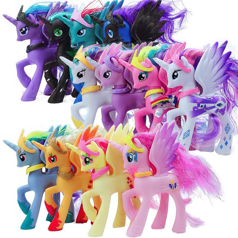 Ограниченная серия 13 см 68 г Симпатичные Единорог Луна принцесса маленькая лошадка Цифры игрушки куклы