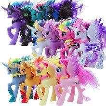 Begränsad upplaga 13cm 68g söt unicorn luna prinsessan liten häst figurer leksak docka