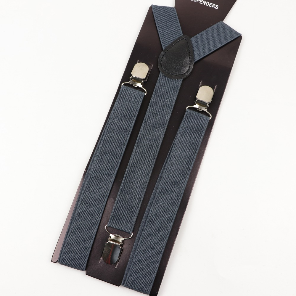 Solid Color Man's Belt Men Women Suspenders Polyester Y-Back Braces Adjustable Elastic