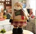 Telescópica Santa Claus Muñeco de Nieve Ciervos Festival de regalo muñeca de Trapo 36 ~ 80 cm ventas al por mayor Decoración de Navidad de Alta Calidad Libre del envío