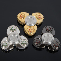 3color Hand Spinner Fidget EDC Spin Stainless Steel Custom Bearing Reduce Pressure Spinner Toys Long Time