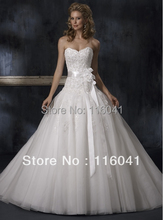 Prom Volume Wedding Dress Good Quality Strapless Lace Appliqued Beaded Oraganza Layer Classic