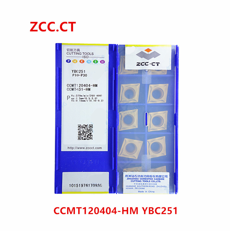 ZCC.CT 10P CCMT120408-HR YBC251 CNC Carbide Insert  Turning Insert for Steel