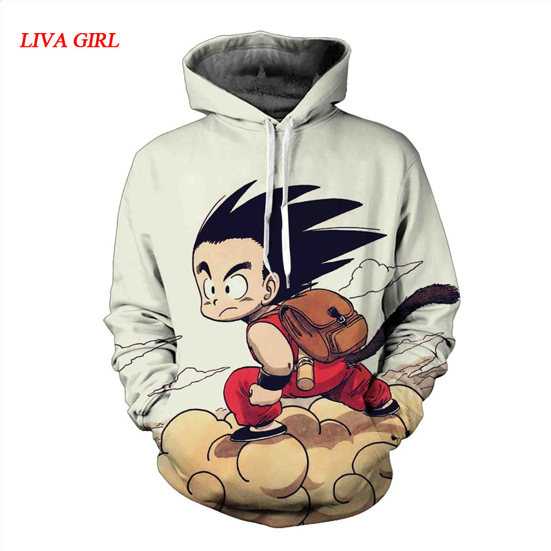 2017 Autumn Winter 3D dragon ball hoodies for men keep warm dragon ball  goku 3d hoodie long naruto hoodie jacket