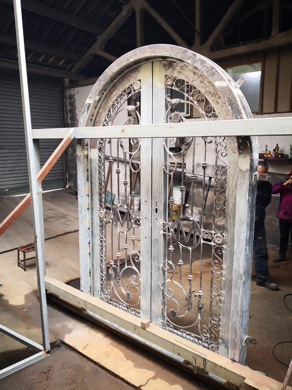 Hench 100% Steel Metal Iron  Wrought Iron Garden Doors