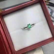 Изумрудное кольцо простой дизайн твердое 925 Серебряное Изумрудное кольцо 4 мм* 5 мм натуральный изумруд ювелирные изделия романтический подарок на день Святого Валентина
