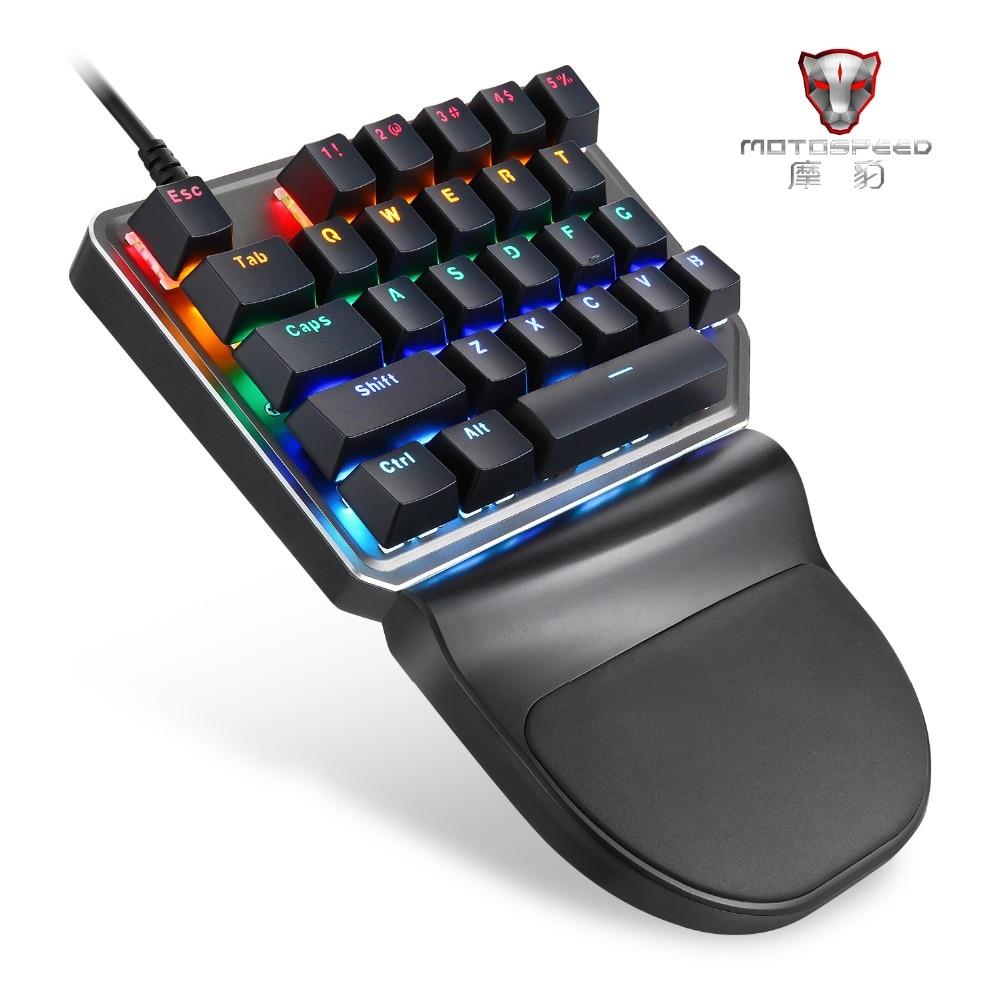 רשימת הקטגוריות Motospeed K27 יחיד ידני מכני מחשב PC PUBG מקלדת גיימינג 27 gamr מדבקת מפתח Wired USB 9 LED עם תאורה אחורית לוח שולחני (2)