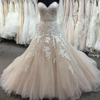 Vestido de novia Sexy de sirena Sweetheart, Top de tubo blanco con Apliques de encaje, vestido con cuentas exquisitas, correa trasera, cinturón, vestidos de novia