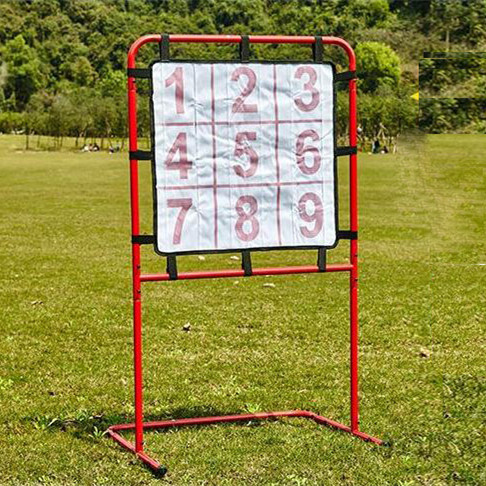 Garden game digital target toss game steel frame with sticky ball for family carry bag pack