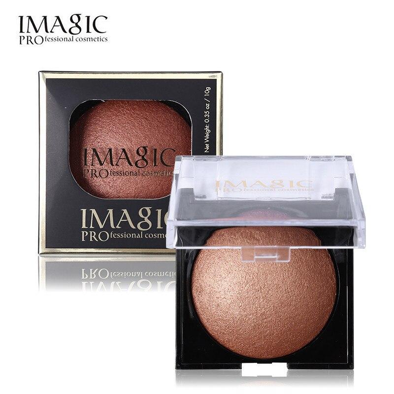 Makeup Blusher Long Lasting Shimmer 4 Color Pigment Minerals Face Contour Baked Bronzer Blush Makeup Palette IMAGIC Brand