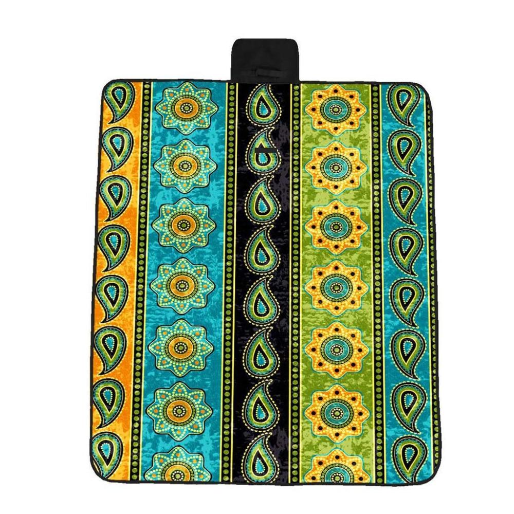 100% Wahr Multicolor 148x82 Cm 5 Größe Griff Design 3d Digitaldruck Volle Polyester Oxford Tuch Picknick Matte Strand Matte #5a08