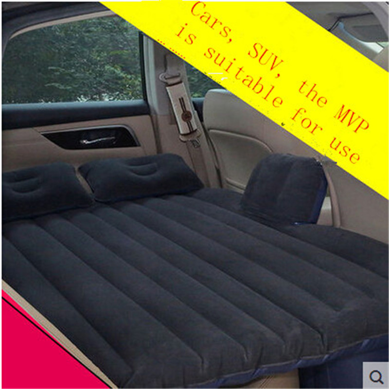 2016 (Black) Universal SUV Car Travel Inflatable Mattress Inflatable car bed for back seat Bed Cushion flocking material car inflatable mattress car shock bed on board flocking inflatable bed separate type air cushion bed car split car bed