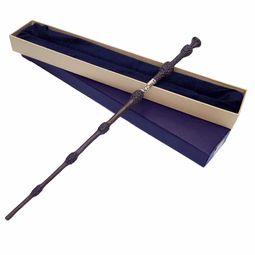 Newest Iron Core HP  The Elder Magic Wand Wand 36cm Dumbledore Scripture Edition Non-luminous Wand Free Shipping