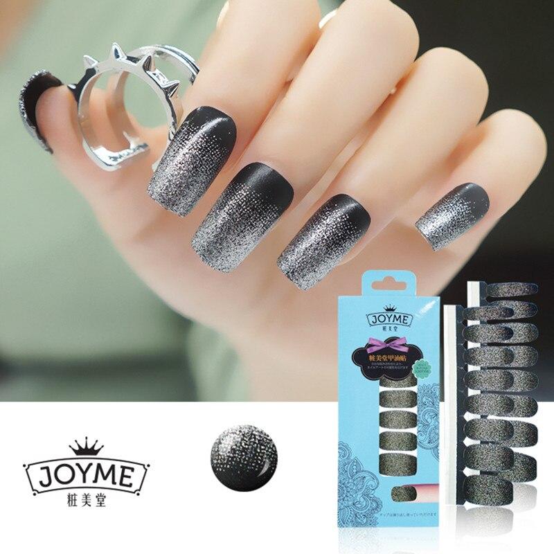 New Glitter Sparkly one set of Full Nail Polish Strips Wraps Sticker ...