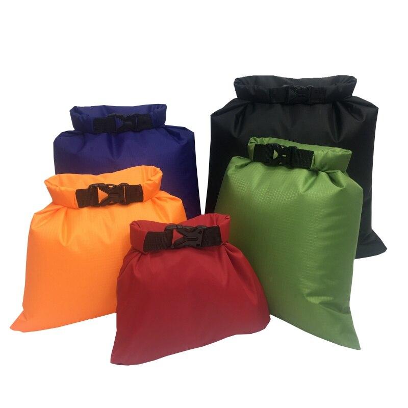 5 unids/set bolsa seca impermeable saco bolsa de almacenamiento Camping senderismo canoa flotante navegación ultraligera al aire libre mochila portátil