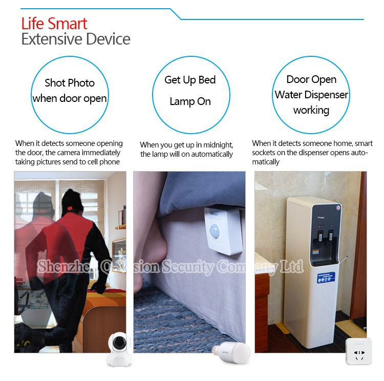 10--Lifesmart Smart Sensor Wireless Motion Detector For Home Automation Remote Control by IOS Android Compatible with Smart Station