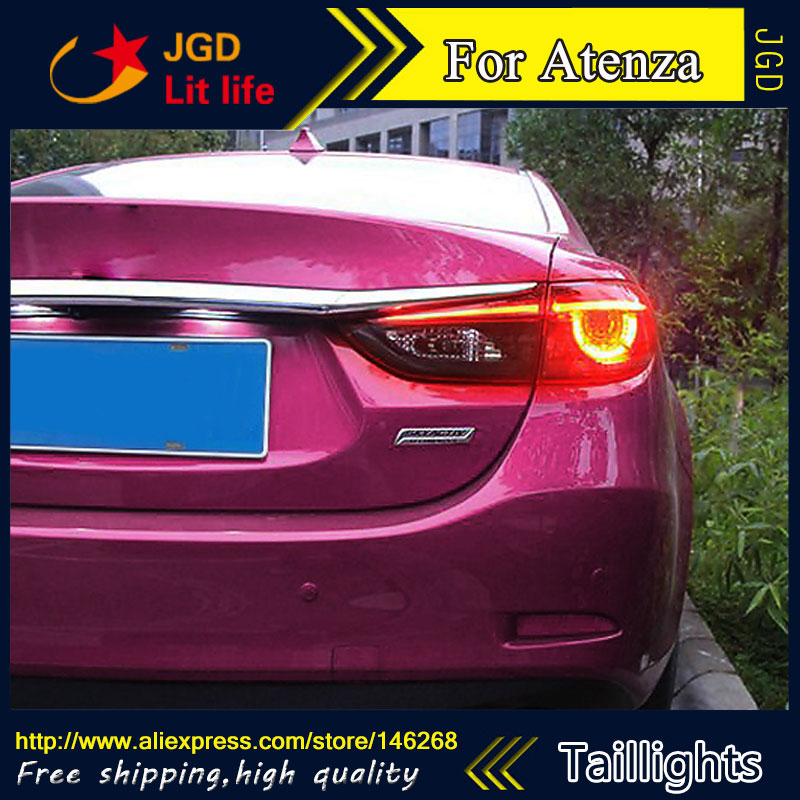 Car Styling tail lights for Mazda6 mazda Atenza 2014 2015 LED Tail Lamp rear trunk lamp cover drl+signal+brake+reverse 2015 milan 5000lm fanless 5000lm 6000lm 40w fish tail 6000k 881 led for all car freeshipping mmm