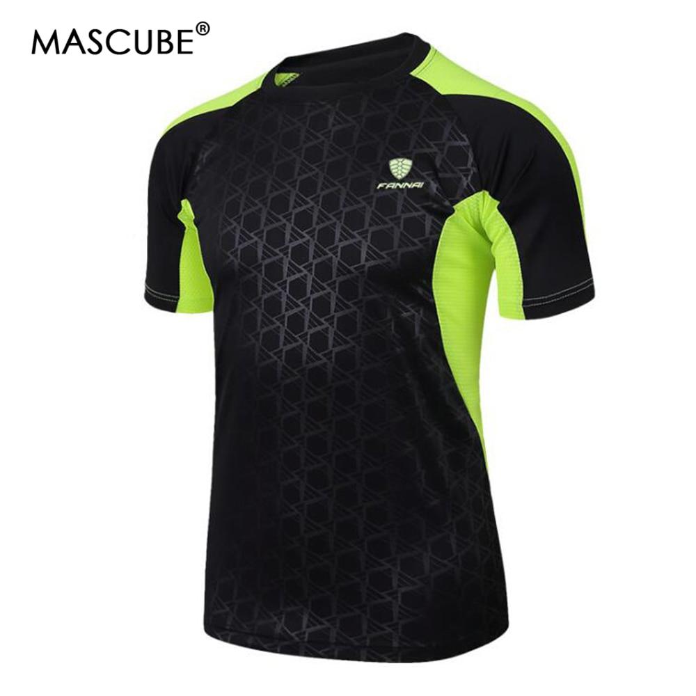 MASCUBE אופנה חם Mens חולצות אופנתי סלים מתאים Mens אימון חולצות זכר חולצה מהירה יבש קצר חולצת שרוולים קצר
