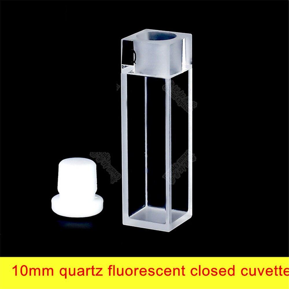 Fluorescent cuvette quartz 10mm / four-pass light / 1cm / four-sided light transmission / UVFluorescent cuvette quartz 10mm 3 1cm huge