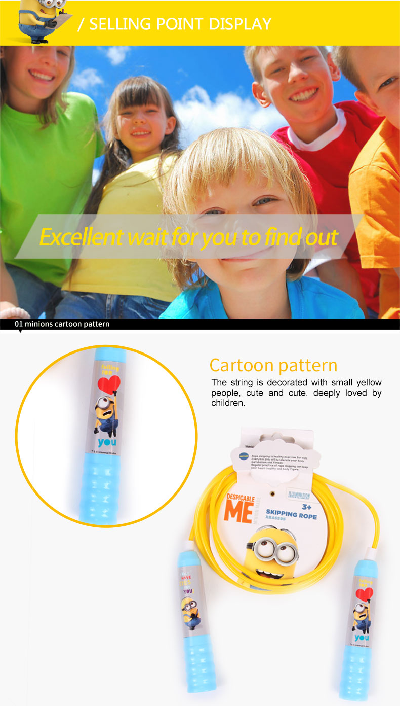 DESPICABLE ME 2 CHILDREN MINIONS INDOORS OUTDOORS SKIPPING ROPE