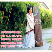 Nanmu solid wood Professional performance China Guzheng music bamboo slip Master zither 21 Strings With Full Accessories