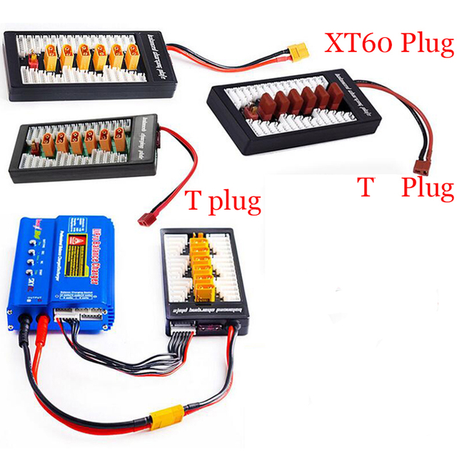 Multi 2S-6S Lipo Parallel Balanced Charging Board XT60 Plug For RC Battery Charger B6AC A6 720i Lithium Batteries Charger Part