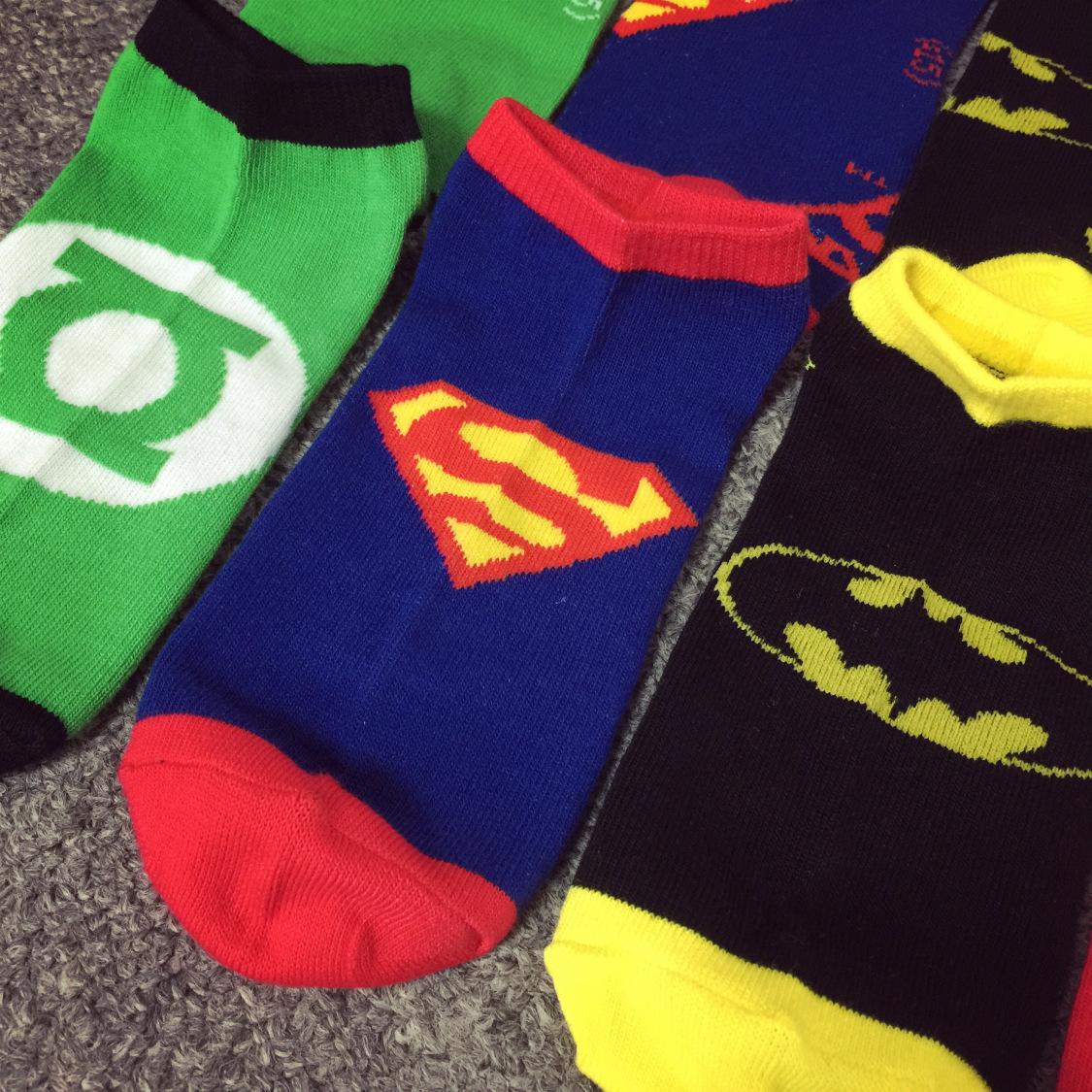 DC Superhero Short Socks - Super Comics Online
