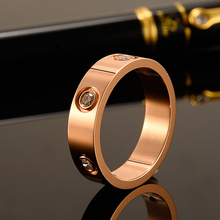 2021 Hot ze stali nierdzewnej kryształowe pierścionki dla kobiet moda tytanu Bague Femme ślub pierścionek zaręczynowy kochanka luksusowej marki biżuteria tanie tanio NoEnName_Null CN (pochodzenie) STAINLESS STEEL Kobiety Cyrkonia TRENDY Obrączki ślubne ROUND All Compatible Love Ring