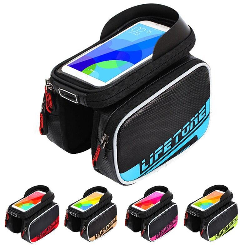 imágenes para Cuatro Color Impermeable Universal de Bicicletas Soporte Para Teléfono Celular Soporte para iPhone 4 5S 6 Plus GPS Bicicleta velo Titular con el Bolso Del Teléfono